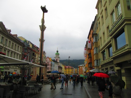 Una de las calles principales del centro de Innsbruck
